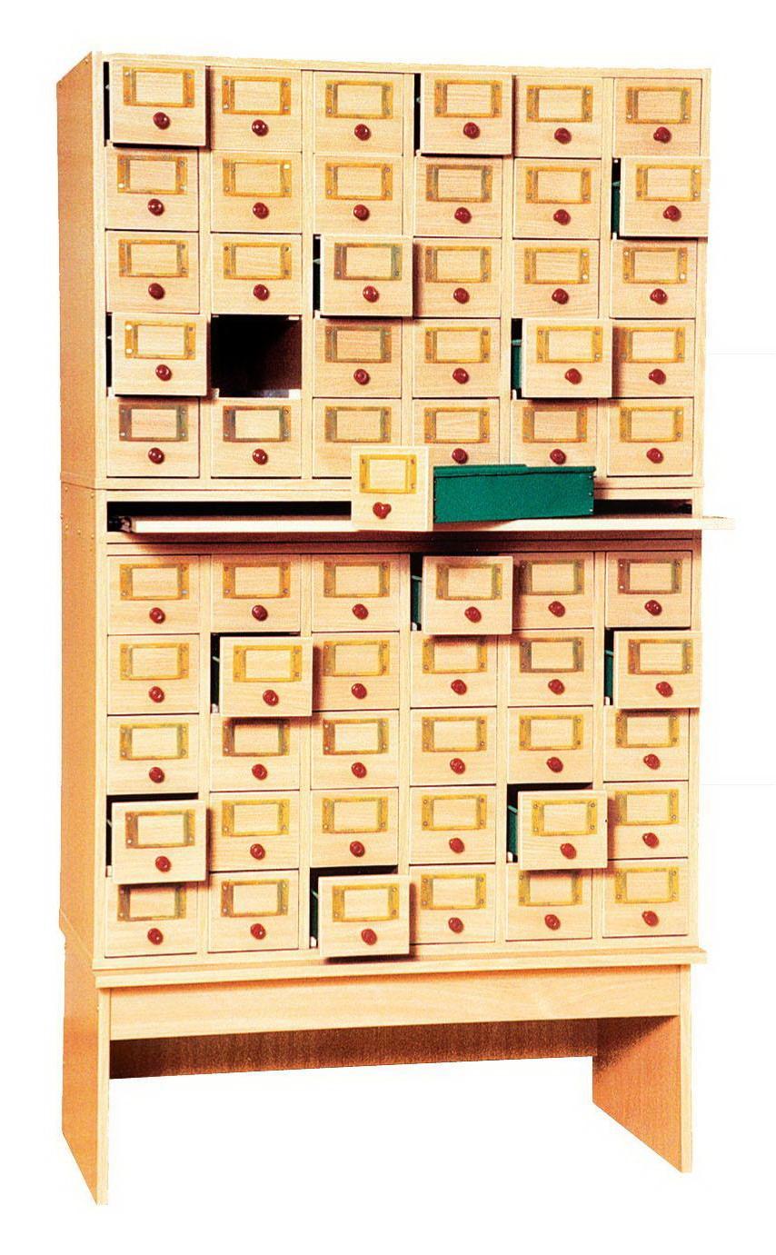 Мебель для библиотек, шкаф картотечный для библиотек на 60 я.