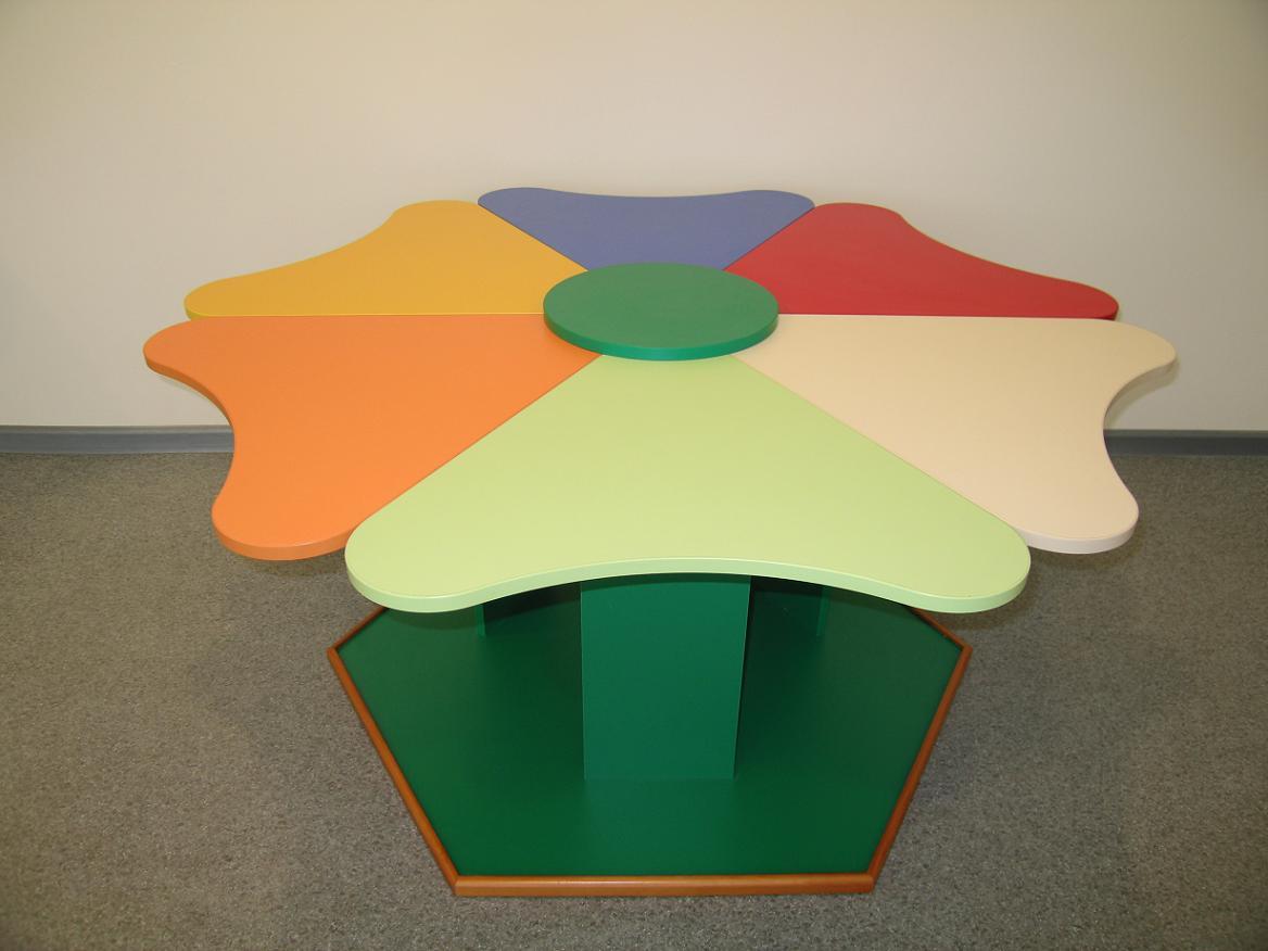 """Цена, купить стол детский """"ромашка"""" (6 сегментов) (луЧ) в ки."""